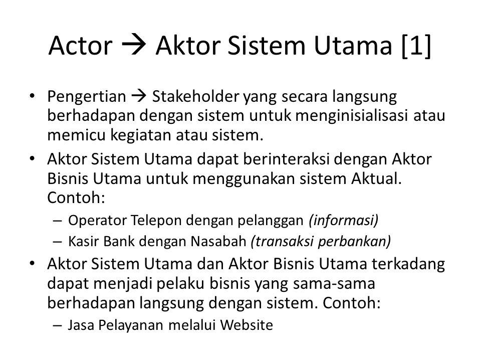 Actor  Aktor Sistem Utama [1]